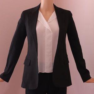 New Item THEORY Women's Black Cotton Blazer